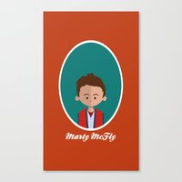 marty mcfly Canvas Prints featuring Marty McFly by Juliana Motzko
