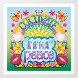 Cultivate inner peace Art Print