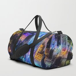 Aerial Times Square - New York City Landscape Painting by Jeanpaul Ferro Duffle Bag
