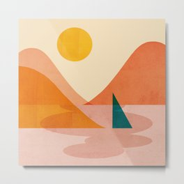 Abstraction_Lake_Sunset Metal Print