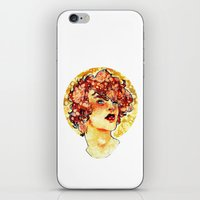 enjolras iPhone & iPod Skins featuring enjolras watercolour by chazstity