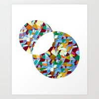 mozart Art Prints featuring Mozart abstraction by Laura Roode