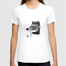 Selfie Womens Fitted Tee White SMALL