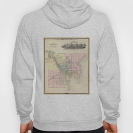 Vintage Map of Oshkosh WI (1878) Hoody
