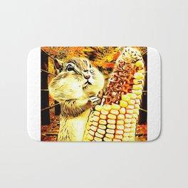 A Squirrel and a Corn Cob 01 Bath Mat
