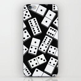 Black and white domino seamless pattern iPhone Skin