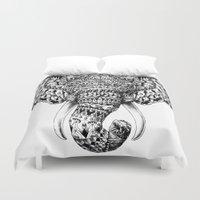 bioworkz Duvet Covers featuring Ornate Elephant Head by BIOWORKZ
