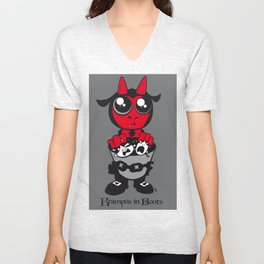 Krampus in Boots Unisex V-Neck