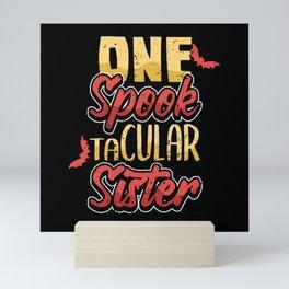 Funny Sister Spook Halloween Costume Gift Mini Art Print