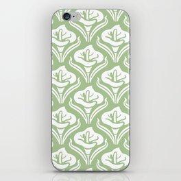 Calla Lily Pattern Sage Green iPhone Skin