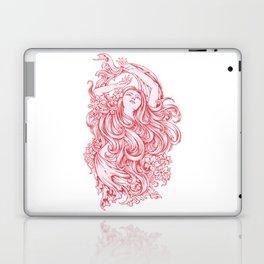 Beautiful Girl with RED ROSE Laptop & iPad Skin