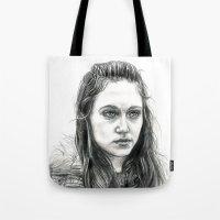 jem Tote Bags featuring Jem Walker by laya rose