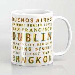 Travel World Cities Coffee Mug