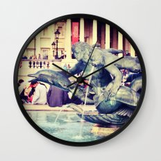 Fountain of Angels Wall Clock