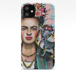 Frida + Perrito iPhone Case