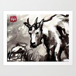 Goat, no. 2.5 Art Print