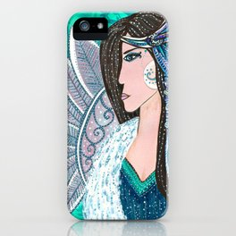 She Wore Feathers In Her Hair iPhone Case