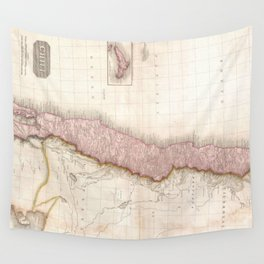 Vintage Map of Chile (1818) Wall Tapestry