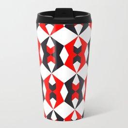 Geometric Pattern #115 (red hexagon) Travel Mug