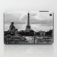 eiffel tower iPad Cases featuring Eiffel Tower by Ann Yoo