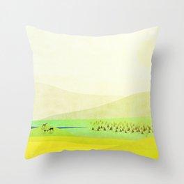 Minimal Meadow Redux Throw Pillow