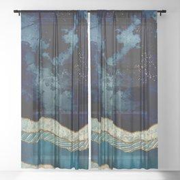 Indigo Sky Sheer Curtain