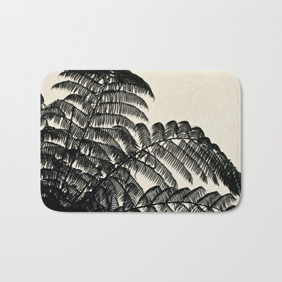 Palm Fan Bath Mat