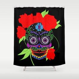 Rosa Adela calavera skull ecopop Shower Curtain