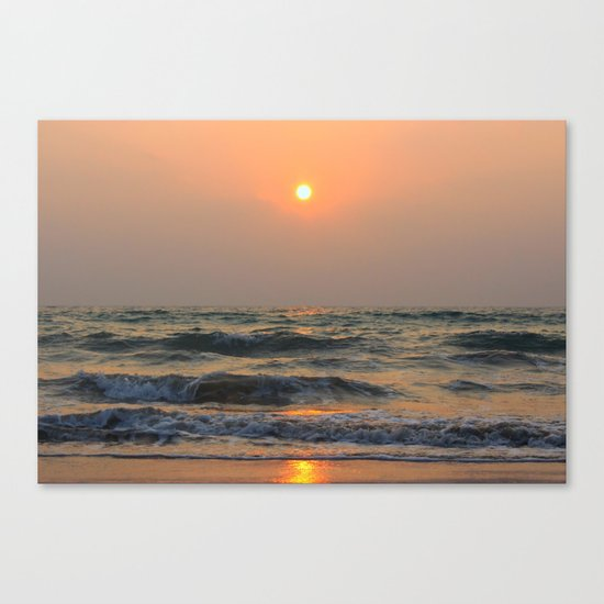 Sunset over the sea. Canvas Print