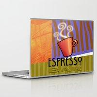 bar Laptop & iPad Skins featuring EXPRESSO BAR by Cheryl Daniels
