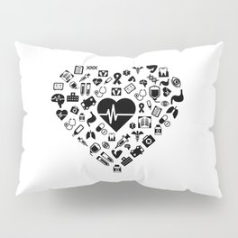 I Love First Aid | Doctor Nurse Heart Hospital Pillow Sham