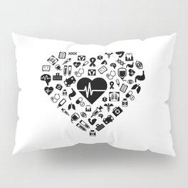 I Love First Aid | Doctor Nurse Heart Hospital Pillow Sham