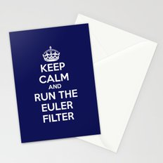 Keep Calm and Run the Euler Filter Stationery Cards
