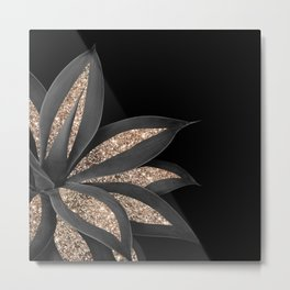 Agave Finesse Glitter Glam #8 #tropical #decor #art #society6 Metal Print