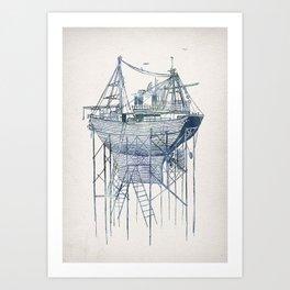 Dry Dock II Art Print
