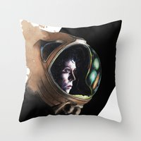 ripley Throw Pillows featuring Ripley by maxandr