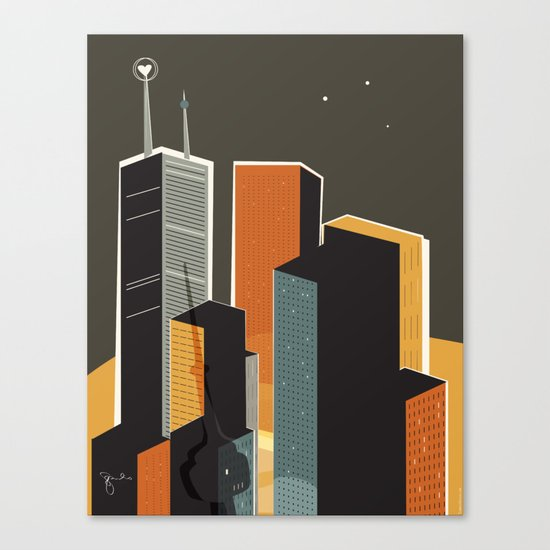 Summer in Toronto (alt colour) Canvas Print