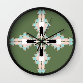 Pantone Plus Feathered Kale Circles Wall Clock