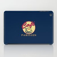 cafe iPad Cases featuring cafe Parisien by Sylvia Cook Photography