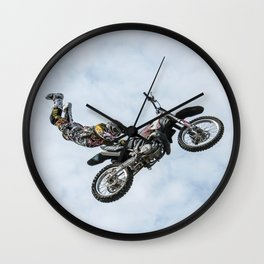 Motocross High Flying Jump Wall Clock
