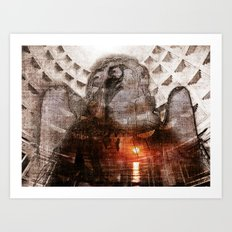 angel of my sorrow Art Print