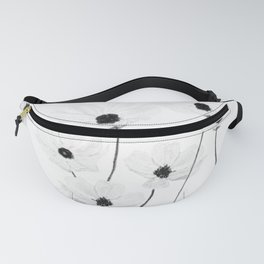 black and white cosmos Fanny Pack