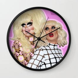 Trixie Mattel and Katya Zamolodchikova Wall Clock