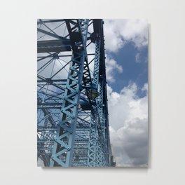 Bridge and Blues Metal Print