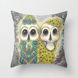 Summer Love Skullies Throw Pillow