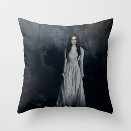 Ghost In The Mist Cristina Scabbia Inspired Artwork Throw Pillow