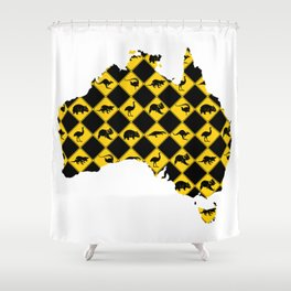 Australian Animals Road Signs Map Shower Curtain