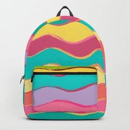 Wavy Pastel Tones Backpack