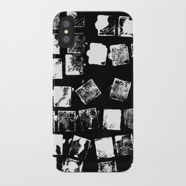 Stamp Black and White iPhone Case