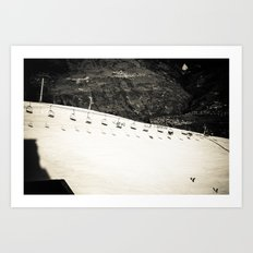 Ski Mountain Art Print